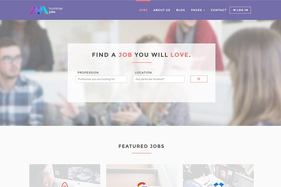 Bootstrap Job Board Template
