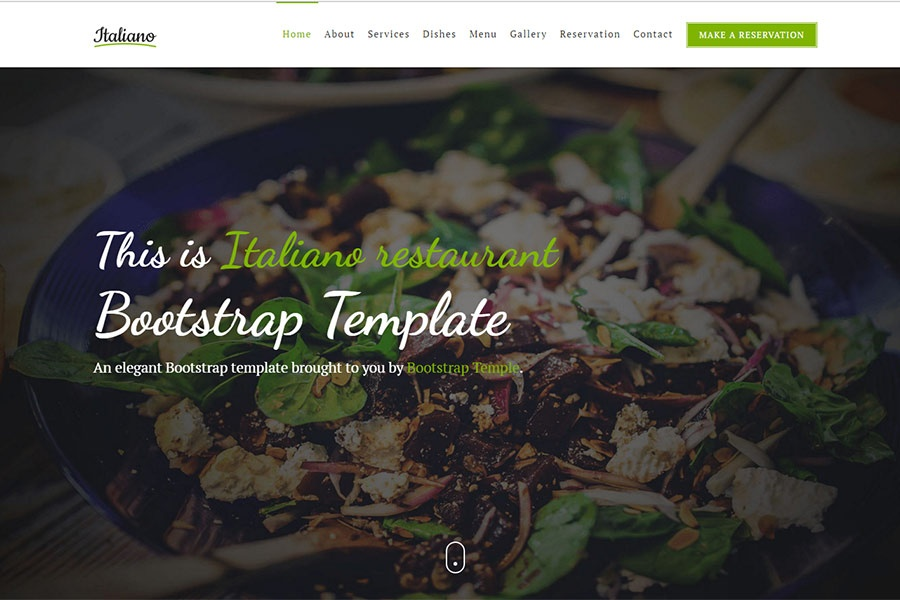Italiano bootstrap 4 restaurant or caf template free w 6 italiano restaurant or caf template maxwellsz
