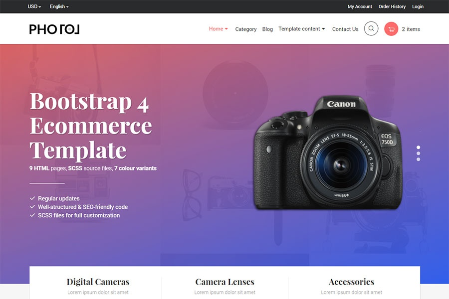 Photo - Bootstrap 4 E-commerce Template