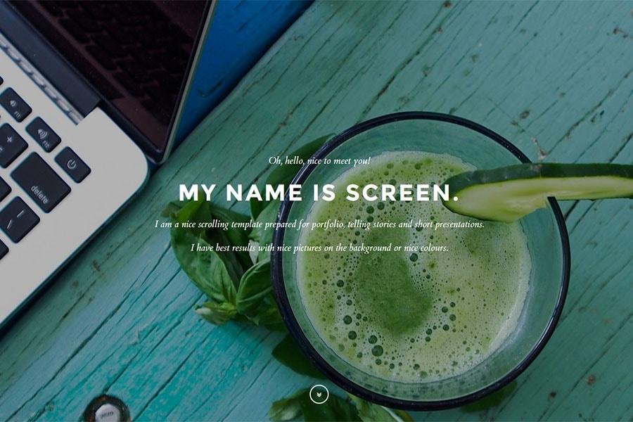 Screen - Onepage scroll theme