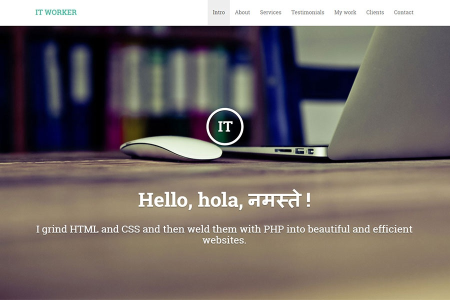 IT Worker - Portfolio Theme