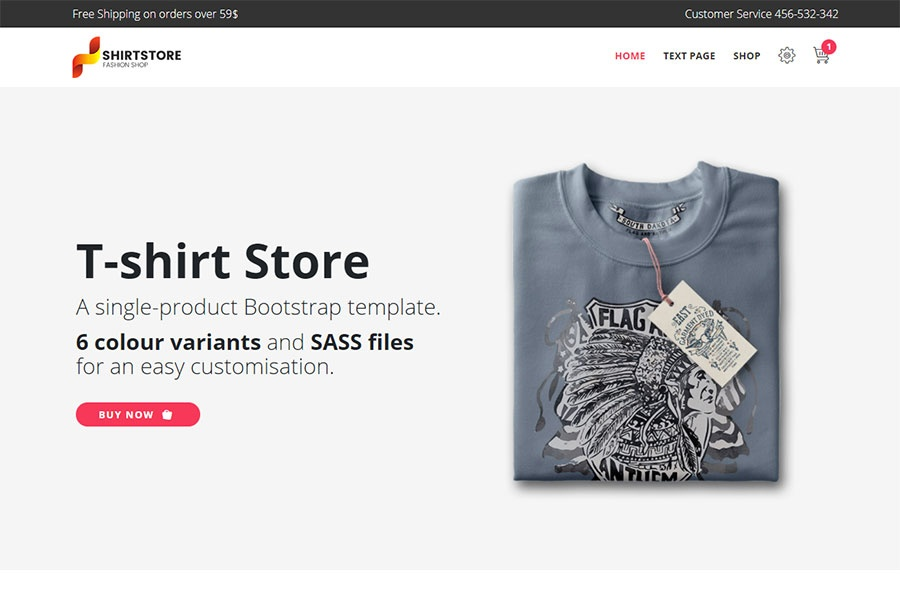 Single product e-commerce template