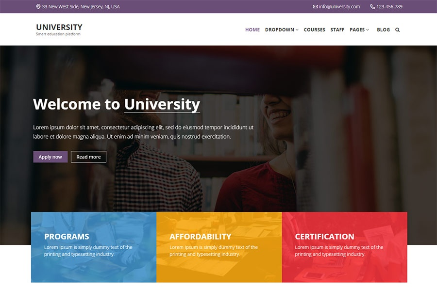 University - Education template