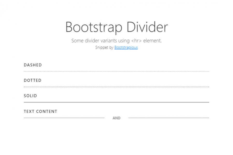 Bootstrap 4 Dividers Html Css Snippet Template