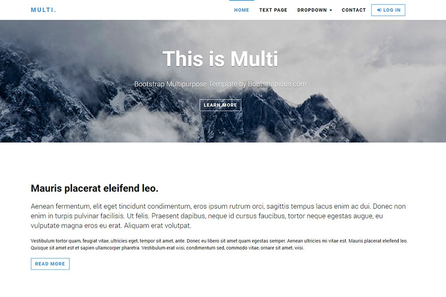 About Us Themes Free Bootstrap Templates