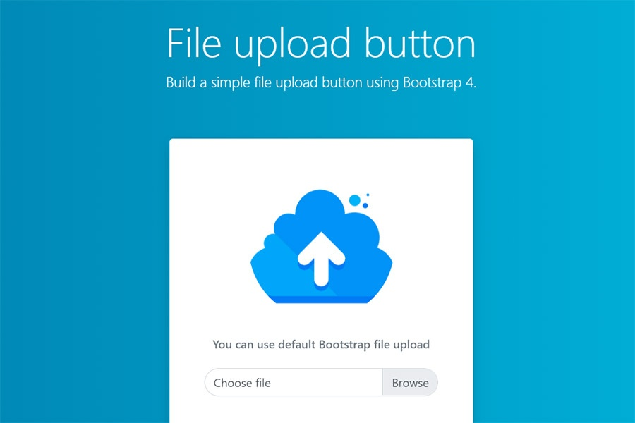 Fancy Bootstrap 4 File Upload Component - HTML&CSS Snippet