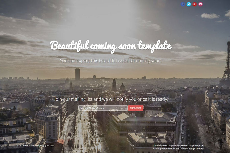 Video background Themes | Free Bootstrap Templates